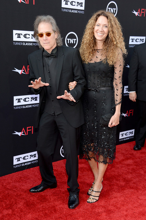 . Actor/comedian Richard Lewis (L) and producer Joyce Lapinsky attend AFI\'s 41st Life Achievement Award Tribute to Mel Brooks at Dolby Theatre on June 6, 2013 in Hollywood, California. 23647_006_JK_0105.JPG  (Photo by Jason Kempin/Getty Images for AFI)