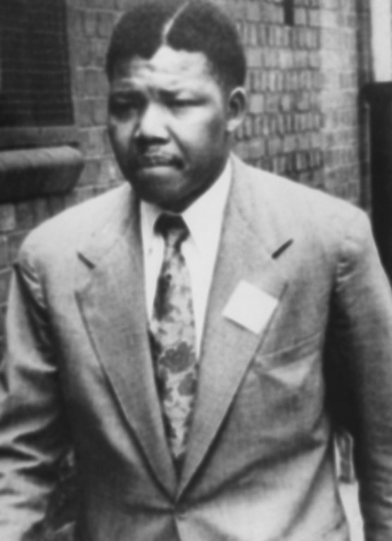 . A file photo dated 1961 of South African anti-apartheid leader and member of the African National Congress (ANC) Nelson Mandela. (STF/AFP/Getty Images)