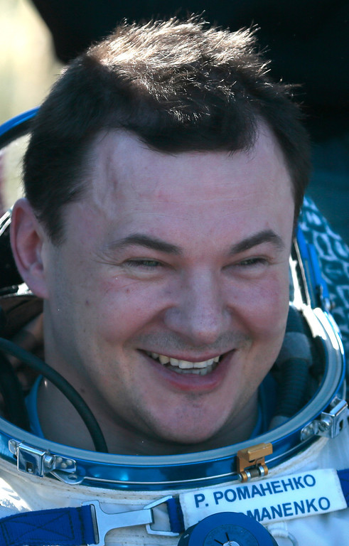 . Russian cosmonaut Roman Romanenko smiles shortly after the  landing aboard the Russian Soyuz space capsule some 150 km (90 miles) southeast of the town of Zhezkazgan in central Kazakhstan on May 14, 2013.  AFP PHOTO / POOL /MIKHAIL METZEL/AFP/Getty Images