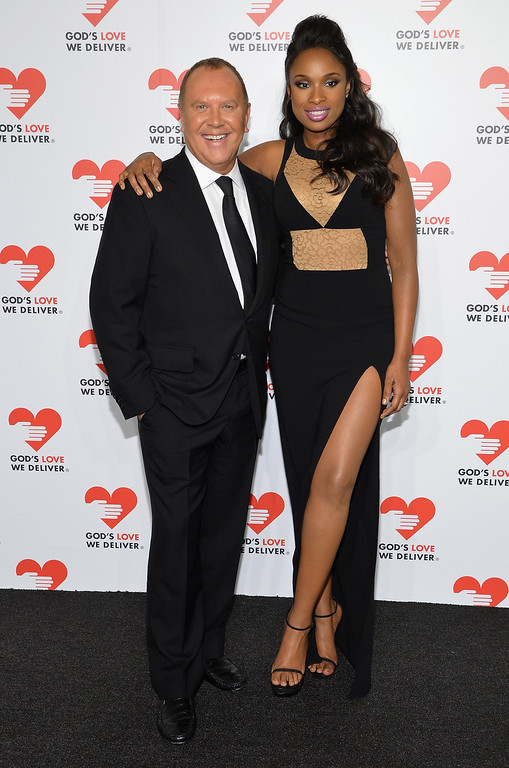 . NEW YORK, NY - OCTOBER 16:  Designer Michael Kors (L) and Actress and Singer Jennifer Hudson attend God\'s Love We Deliver 2013 Golden Heart Awards Celebration at Spring Studios on October 16, 2013 in New York City.  (Photo by Larry Busacca/Getty Images for Michael Kors)