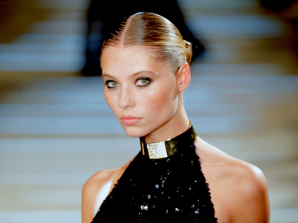 . A model wears a creation by French fashion designer Alexandre Vauthier as part of the Women\'s Spring/Summer 2013 Haute Couture fashion collection presented in Paris, Tuesday, Jan. 22 2013 (AP Photo/ Jacques Brinon)