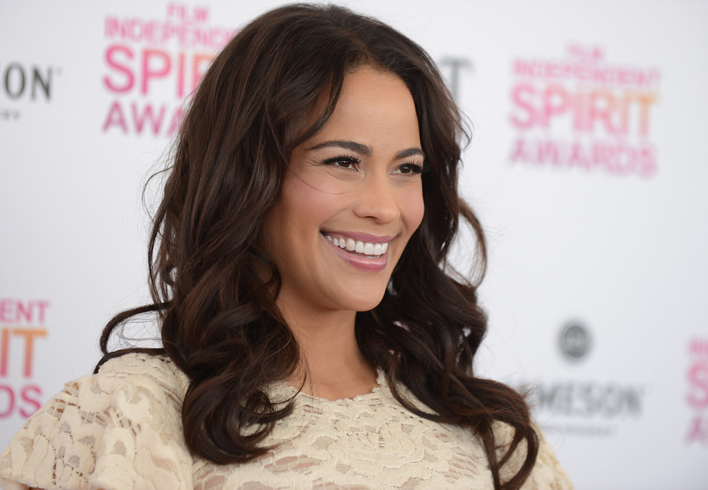 . Actress Paula Patton arrives at the Independent Spirit Awards on Saturday, Feb. 23, 2013, in Santa Monica, Calif.  (Photo by Jordan Strauss/Invision/AP)