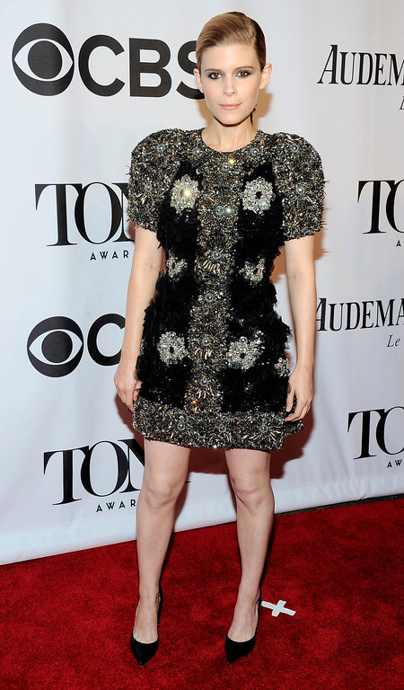 . Kate Mara arrives at the 68th annual Tony Awards at Radio City Music Hall on Sunday, June 8, 2014, in New York. (Photo by Charles Sykes/Invision/AP)