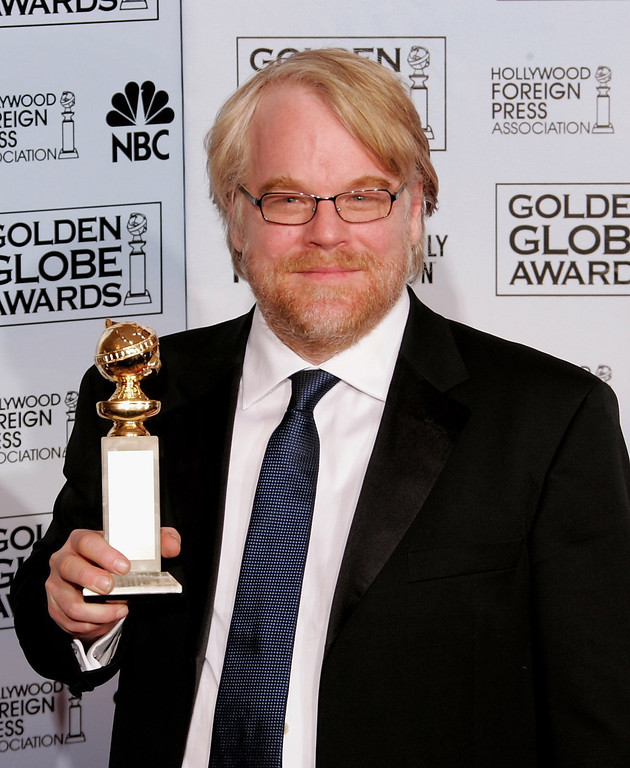 ". According to reports February 2, 2014, Philip Seymour Hoffman, 46, was found dead in his New York City apartment. Actor Philip Seymour Hoffman with his award for Best Actor, Drama for ""Capote\"" poses backstage during 63rd Annual Golden Globe Awards at the Beverly Hilton on January 16, 2006 in Beverly Hills, California.  (Photo by Kevin Winter/Getty Images)"