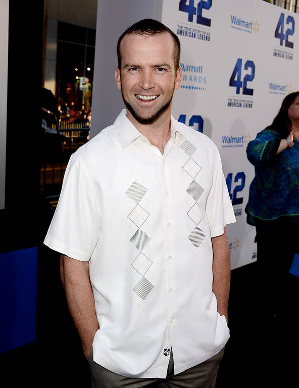 ". Actor Lucas Black arrives at the premiere of Warner Bros. Pictures\' and Legendary Pictures\' ""42\"" at the Chinese Theatre on April 9, 2013 in Los Angeles, California.  (Photo by Kevin Winter/Getty Images)"