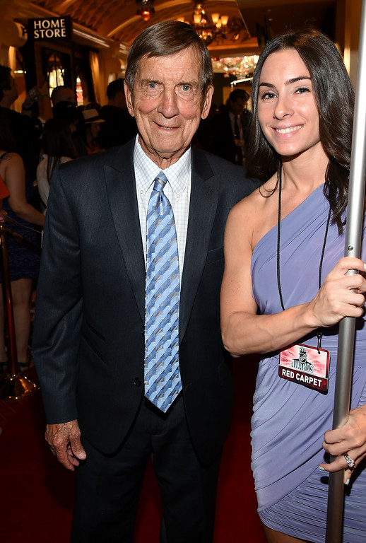 . NHL Hall of Famer Ted Lindsay arrives on the red carpet prior to the 2014 NHL Awards at Encore Las Vegas on June 24, 2014 in Las Vegas, Nevada.  (Photo by Ethan Miller/Getty Images)