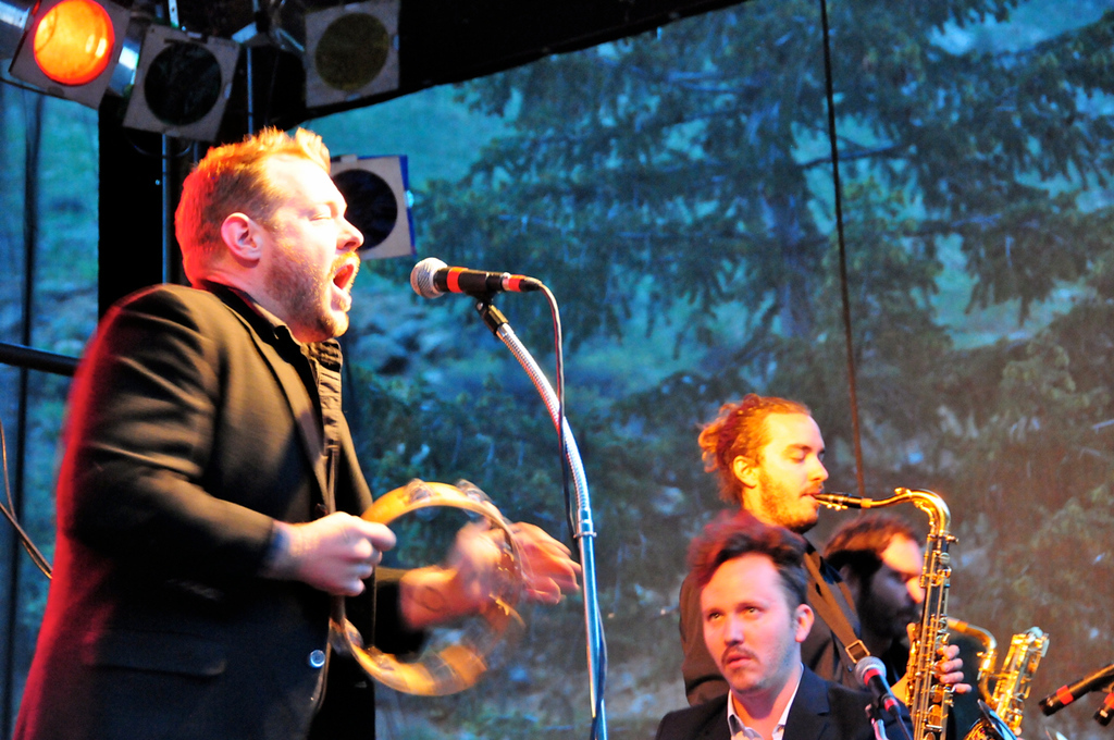 . Nathaniel Rateliff performs with his new soul band the Night Sweats at the Mishawaka Amphitheatre in northern Colorado on May 24. Photos by Ryan Johnson, special to The Denver Post.