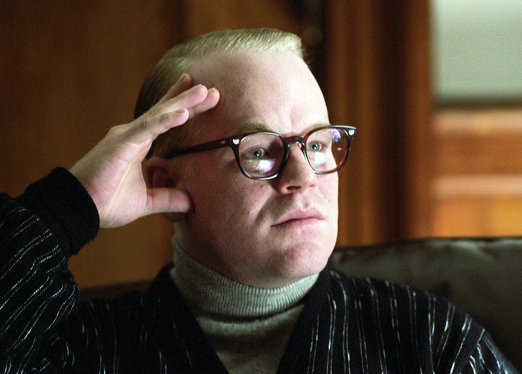 ". In this undated publicity photo released by Sony Pictures Classics, Philip Seymour Hoffman portrays author Truman Capote in a scene from the film ""Capote.\""   Police say Oscar-winning actor Philip Seymour Hoffman has been found dead in his NYC apartment. (AP Photo/Attila Doroy, Sony Pictures Classics, File)"