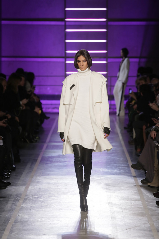 . A model walks the runway during the IRFE show as part of the Paris Fashion Week Womenswear Fall/Winter 2014-2015 on February 27, 2014 in Paris, France.  (Photo by Victor Boyko/Getty Images)