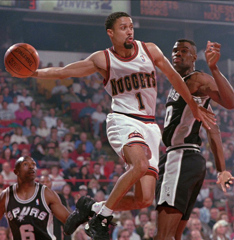 . Best � 4. Mahmoud Abdul-Rauf The third overall pick in 1990, the player formerly known as Chris Jackson spent six seasons with the Nuggets and won the Most Improved Player award in 1993. He averaged 16 points on 44.3 percent shooting from the field and 35.4 percent from the field in his time with the Nuggets.  Denver Nuggets guard Mahmoud Abul-Rauf, left, passes the ball past San Antonio Spurs center David Robinson in the first quarter in Denver on Saturday, Nov. 4, 1995.(AP Photo/Joe Mahoney)