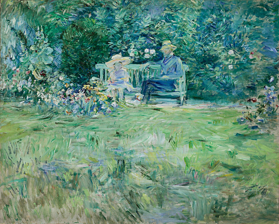 ". Berthe Morisot, ""Lesson in the Garden,\"" 1886. (Image provided by the Denver Art Museum)"
