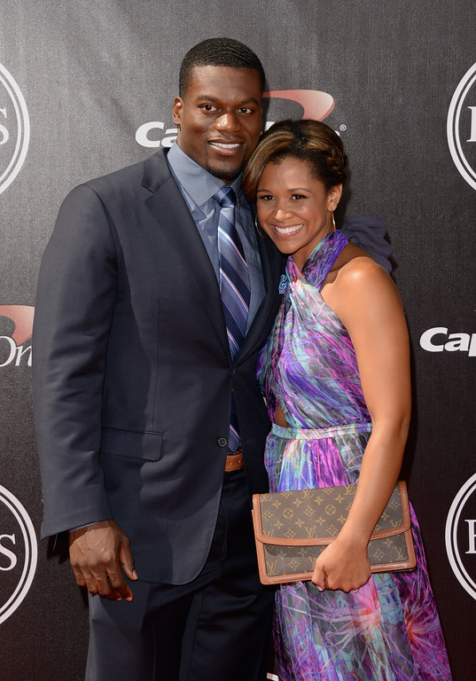 . LOS ANGELES, CA - JULY 16:  New Orleans Saints\' Benjamin Watson with guest attends The 2014 ESPYS at Nokia Theatre L.A. Live on July 16, 2014 in Los Angeles, California.  (Photo by Jason Merritt/Getty Images)