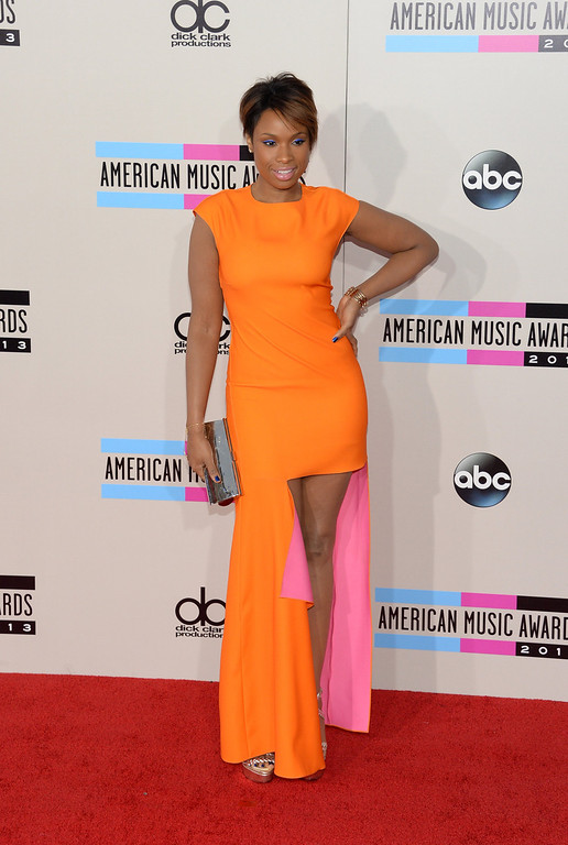. Singer/actress Jennifer Hudson attends the 2013 American Music Awards at Nokia Theatre L.A. Live on November 24, 2013 in Los Angeles, California.  (Photo by Jason Kempin/Getty Images)
