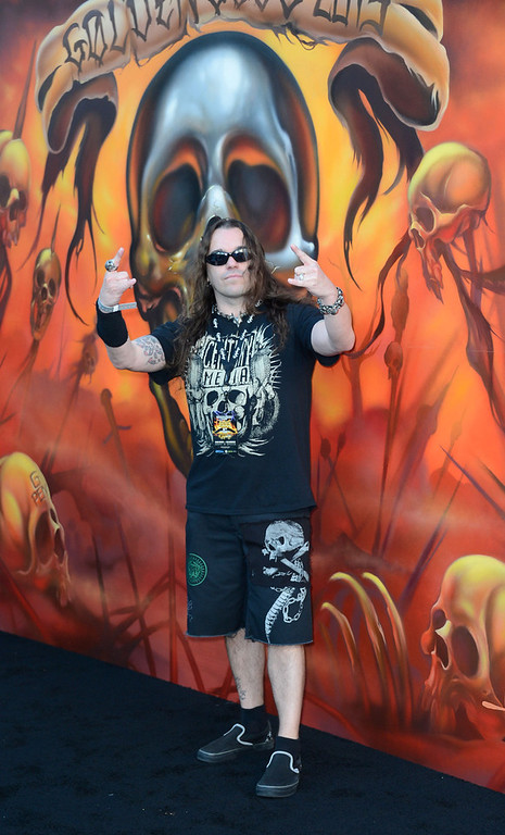 . Musician Jeremy Wagner arrives at the 5th Annual Revolver Golden Gods Award Show  at Club Nokia on May 2, 2013 in Los Angeles, California.  (Photo by Frazer Harrison/Getty Images)