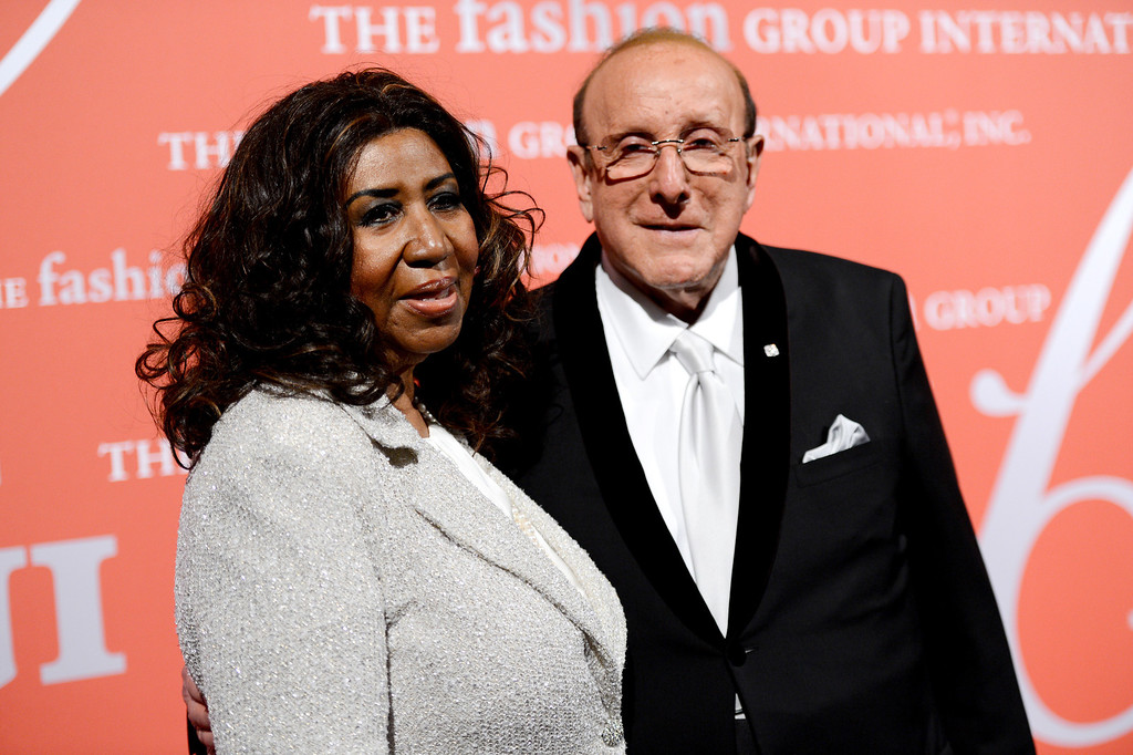 ". Singer Aretha Franklin and music producer Clive Davis attend the Fashion Group International\'s 30th annual ""Night Of Stars\"" awards gala at Cipriani\'s Wall Street on Tuesday, Oct. 22, 2013, in New York. (Photo by Evan Agostini/Invision/AP)"