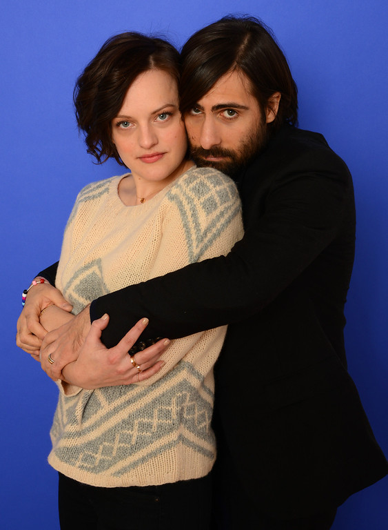 . Actors Elisabeth Moss and Jason Schwartzman pose for a portrait during the 2014 Sundance Film Festival at the Getty Images Portrait Studio at the Village At The Lift on January 20, 2014 in Park City, Utah.  (Photo by Larry Busacca/Getty Images)