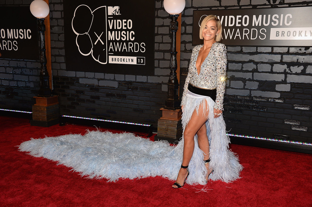 . Rita Ora attends the 2013 MTV Video Music Awards at the Barclays Center on August 25, 2013 in the Brooklyn borough of New York City.  (Photo by Jamie McCarthy/Getty Images for MTV)