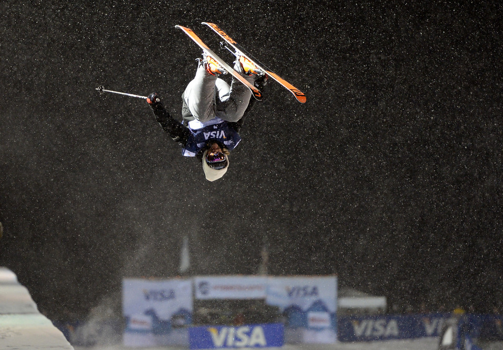 . COPPER MOUNTAIN, CO. DECEMBER 20: Antti-Jussi Kemppaninen is in action during the ski halfpipe final U.S. Snowboarding Grand Prix. Copper Mountain, Colorado. December 20. 2013. (Photo by Hyoung Chang/The Denver Post)