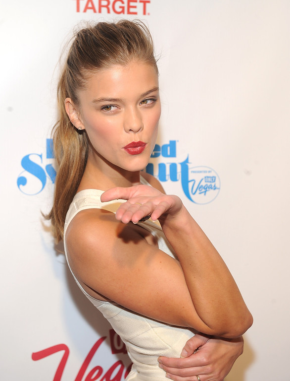 . Model Nina Agdal attends the 2013 Sports Illustrated Swimsuit issue launch party at Crimson on Tuesday, Feb. 12, 2013 in New York.(Photo by Brad Barket/Invision/AP)