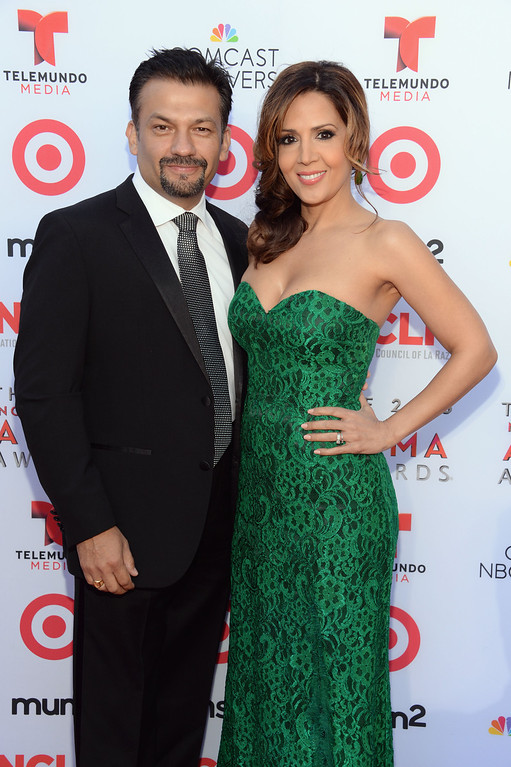 . PASADENA, CA - SEPTEMBER 27:  Actors Maria Canals Barrera (R) and David Barrera attend the 2013 NCLR ALMA Awards at Pasadena Civic Auditorium on September 27, 2013 in Pasadena, California.  (Photo by Michael Kovac/Getty Images for NCLR)