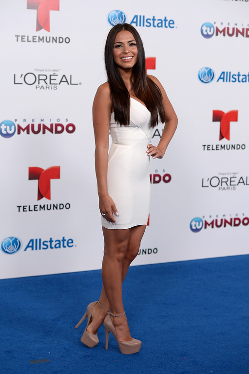 . MIAMI, FL - AUGUST 15:  Lia Borrego arrives for Telemundo\'s Premios Tu Mundo Awards at American Airlines Arena on August 15, 2013 in Miami, Florida.  (Photo by Gustavo Caballero/Getty Images)