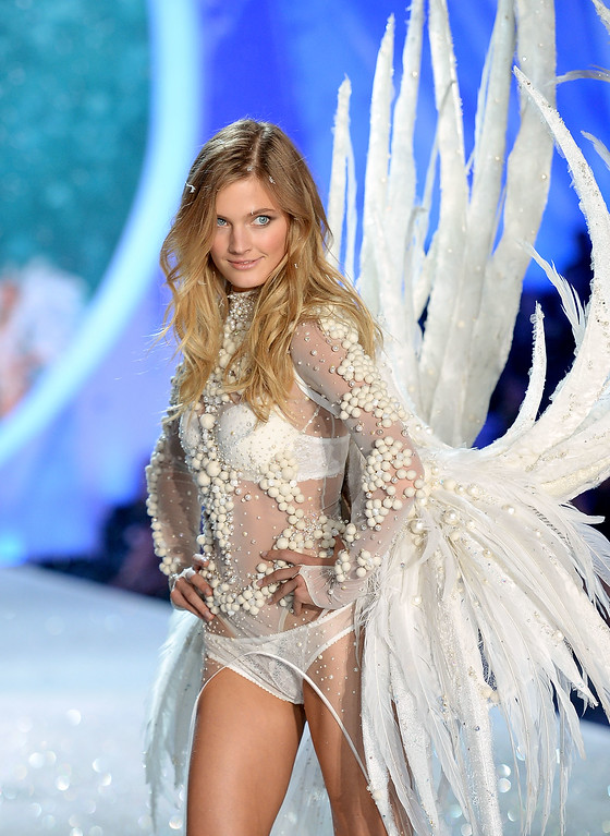 . Model Constance Jablonski walks the runway at the 2013 Victoria\'s Secret Fashion Show at Lexington Avenue Armory on November 13, 2013 in New York City.  (Photo by Dimitrios Kambouris/Getty Images for Victoria\'s Secret)