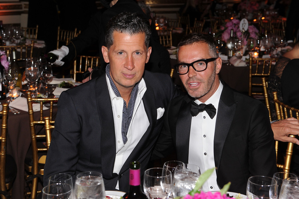 . NEW YORK, NY - JUNE 13:  W Magazine Editor in Chief Stefano Tonchi and Dan Caten of Dsquared2 attend the 4th Annual amfAR Inspiration Gala New York at The Plaza Hotel on June 13, 2013 in New York City.  (Photo by Jamie McCarthy/Getty Images)