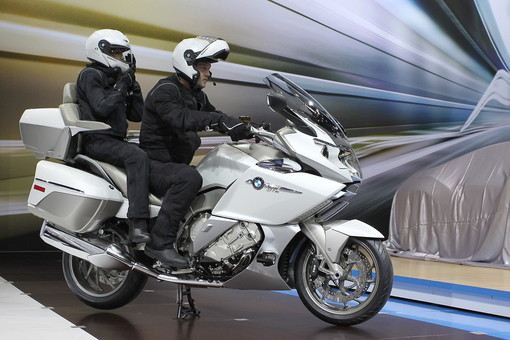 . A 2014 BMW K1600 GTL motorcycle is shown during media preview days at the 2013 Los Angeles Auto Show on November 20, 2013 in Los Angeles, California. The LA Auto Show was founded in 1907 and is one of the largest with more than 20 world debuts expected. The show will be open to the public November 22 through December 1.  (Photo by David McNew/Getty Images)