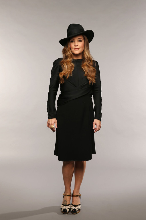 . NASHVILLE, TN - JUNE 05:  Musician Lisa Marie Presley poses at the Wonderwall portrait studio during the 2013 CMT Music Awards at Bridgestone Arena on June 5, 2013 in Nashville, Tennessee.  (Photo by Christopher Polk/Getty Images for Wonderwall)