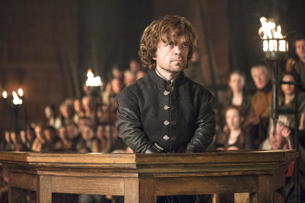 ". This image released by HBO shows Peter Dinklage in a scene from ""Game of Thrones.\""  The series garnered 19 Emmy Award nominations on Thursday, July 10, 2014, including one for best drama series. (AP Photo/HBO, Helen Sloan)"