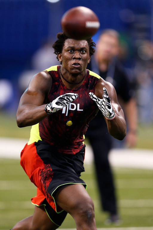 . Ziggy Ansah of BYU works out during the 2013 NFL Combine at Lucas Oil Stadium on February 25, 2013 in Indianapolis, Indiana. (Photo by Joe Robbins/Getty Images)