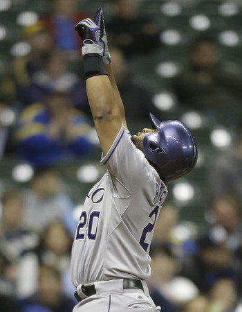 PHOTOS: Colorado Rockies sweep Milwaukee Brewers, win 5-4, April 8, 2015