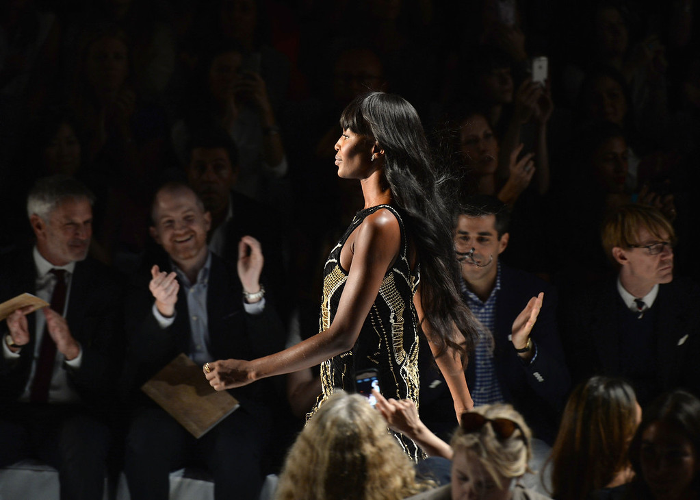 . Model Naomi Campbell walks the runway at the Diane Von Furstenberg fashion show Day 4 - Mercedes-Benz Fashion Week Spring 2014 at Lincoln Center for the Performing Arts on September 8, 2013 in New York City.  (Photo by Andrew H. Walker/Getty Images for Mercedes-Benz Fashion Week Spring 2014)