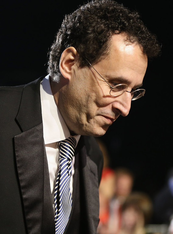 . Writer Tony Kushner accepts the award for Best Adapted Screenplay onstage at the 18th Annual Critics\' Choice Movie Awards held at Barker Hangar on January 10, 2013 in Santa Monica, California.  (Photo by Christopher Polk/Getty Images for BFCA)