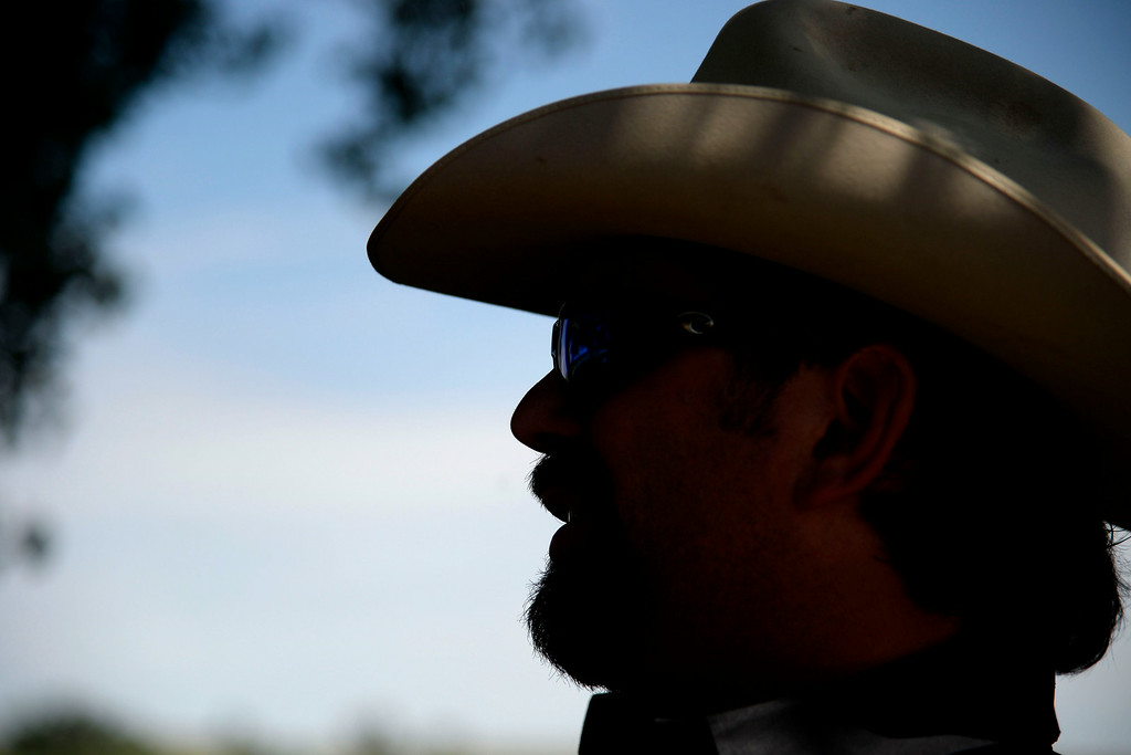 . KERSEY, CO - AUGUST 14: Todd Helton sits on the the patio at his ranch during his first year of retirement from the Colorado Rockies. Former Colorado Rockies first baseman Todd Helton was photographed at his ranch on Thursday, August 14, 2014. (Photo by AAron Ontiveroz/The Denver Post)