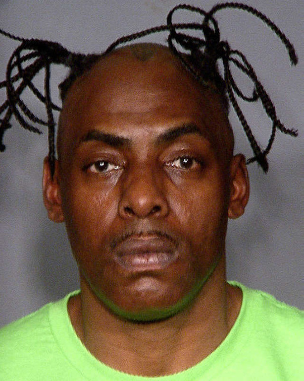 . LAS VEGAS, NV - MARCH 09:  In this handout images provided by the Las Vegas Metropolitan Police Department, rapper Coolio, real name Artis Leon Ivey Jr., is seen in a booking photo March 9, 2012 in Las Vegas, Nevada.  Coolio was arrested for two outstanding misdemeanor warrants for traffic violations after the car he was riding in was pulled over during a routine traffic stop.  (Photo by Las Vegas Metropolitan Police Department via Getty Images)