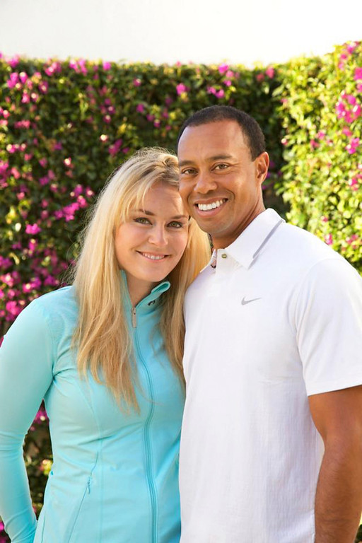 . Golfer Tiger Woods and downhill skier Lindsey Vonn pose in this undated handout photo made available on www.tigerwoods.com. Woods announced on his website on Monday that the two are dating and has asked that their privacy is respected. REUTERS/Tiger Woods/Lindsey Vonn/Handout