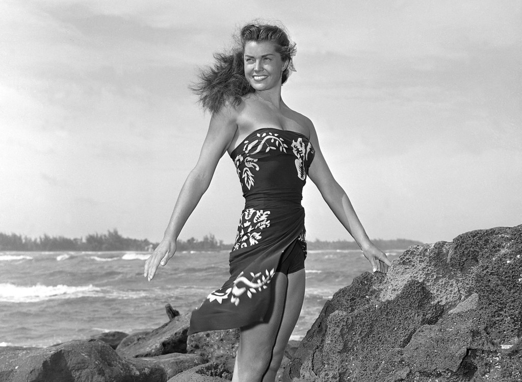 """. This May 1950 file publicity photo originally released by Metro-Goldwyn-Mayer shows Esther Williams on location for the film \""""Pagan Love Song. According to a press representative, Williams died in her sleep on Thursday, June 6, 2013, in Beverly Hills, Calif.  She was 91.  (AP Photo/Metro-Goldwyn-Mayer, file)"""