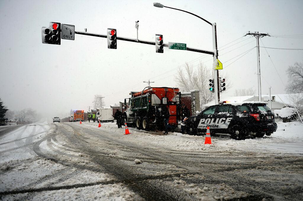 . ARVADA, CO. - MARCH 09: Snowfall  March 09, 2013 in Arvada, Colorado. (Photo By Joe Amon/The Denver Post)