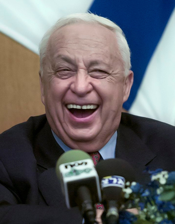 . A picture made available on xx January 2014 shows then Israeli Prime Minister Ariel Sharon at a function in Tel Aviv, Israel, 13 February 2001.  EPA/JIM HOLLANDER