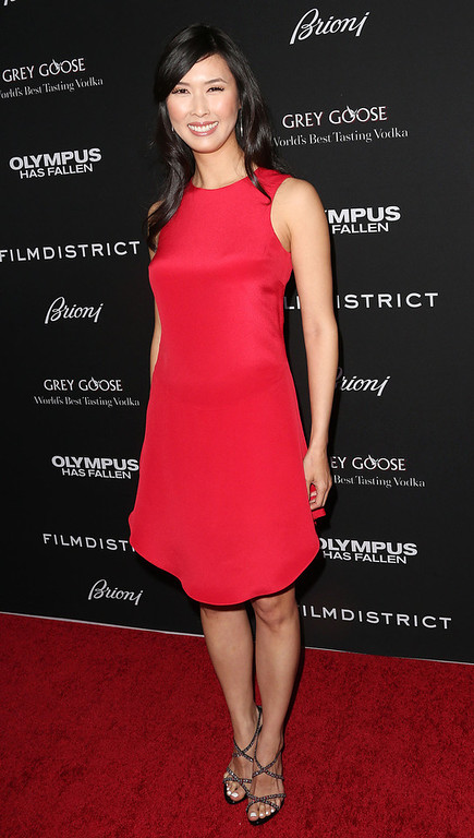 """. Actress Malana Lea attends the Premiere of FilmDistrict\'s \""""Olympus Has Fallen\"""" at the ArcLight Cinemas Cinerama Dome on March 18, 2013 in Hollywood, California.  (Photo by Frederick M. Brown/Getty Images)"""
