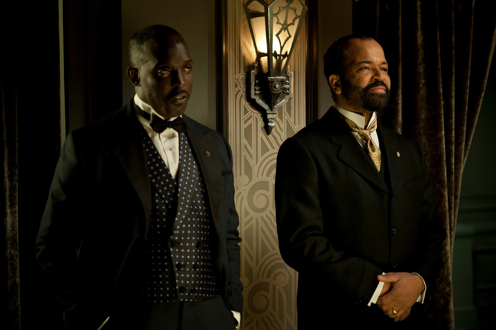 . BOARDWALK EMPIRE episode 39 (season 4, episode 3): Michael Kenneth Williams, Jeffrey Wright. photo: Macall B. Polay