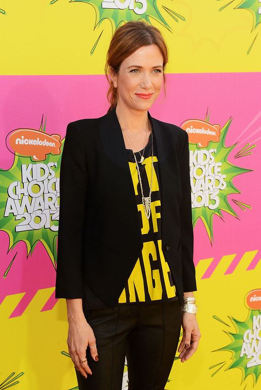 . LOS ANGELES, CA - MARCH 23:  Actress Kristen Wiig arrives at Nickelodeon\'s 26th Annual Kids\' Choice Awards at USC Galen Center on March 23, 2013 in Los Angeles, California.  (Photo by Mark Davis/Getty Images for KCA)