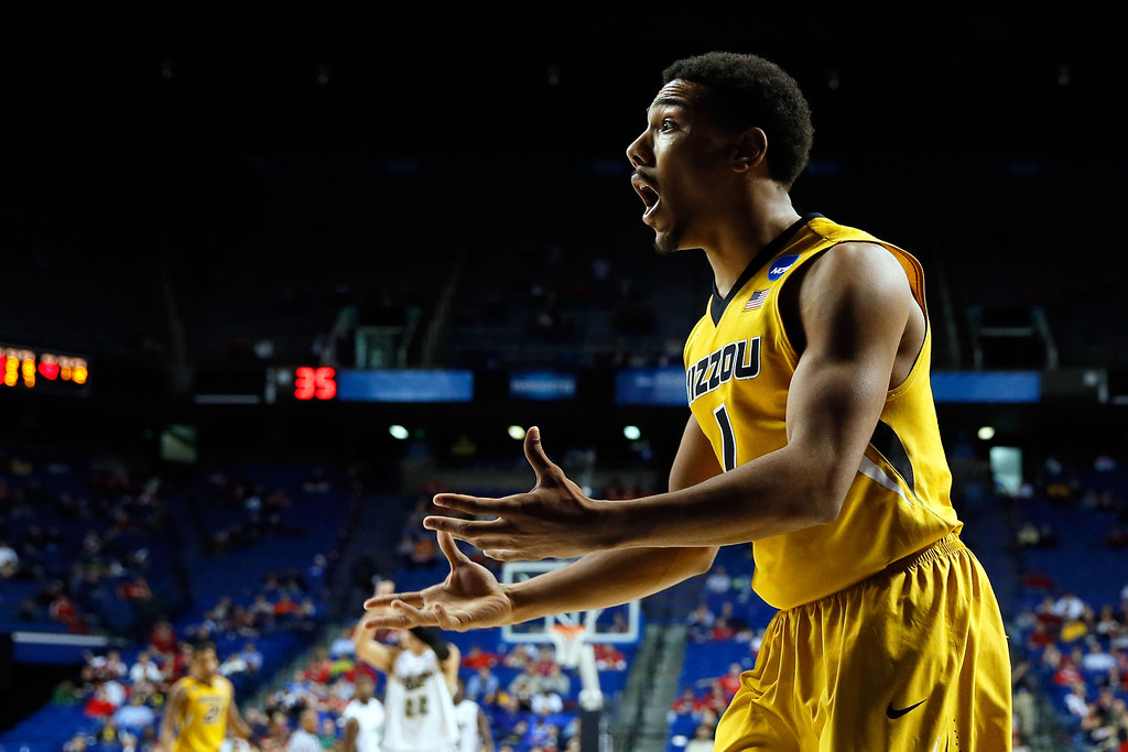 . LEXINGTON, KY - MARCH 21:  Phil Pressey #1 of the Missouri Tigers reacts after an out of bounds call while playing against the Colorado State Rams during the second round of the 2013 NCAA Men\'s Basketball Tournament at the Rupp Arena on March 21, 2013 in Lexington, Kentucky.  (Photo by Kevin C. Cox/Getty Images)