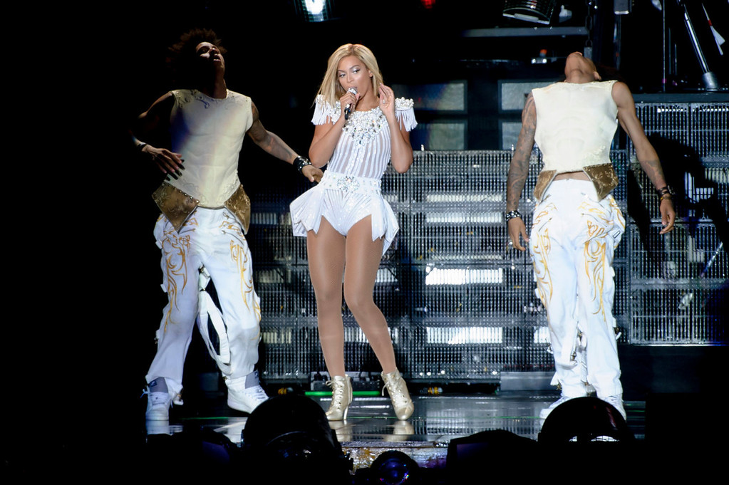 . U.S. singer Beyonce Knowles performs at the V Festival in Chelmsford, Essex, Britain, Saturday, Aug. 17, 2013. (Photo by Jonathan Short/Invision/AP)