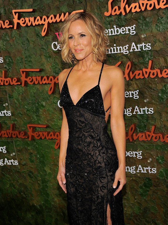 . Actress Maria Bello arrives at the Wallis Annenberg Center for the Performing Arts Inaugural Gala on Thursday, Oct. 17, 2013, in Beverly Hills, Calif. (Photo by Chris Pizzello/Invision/AP)