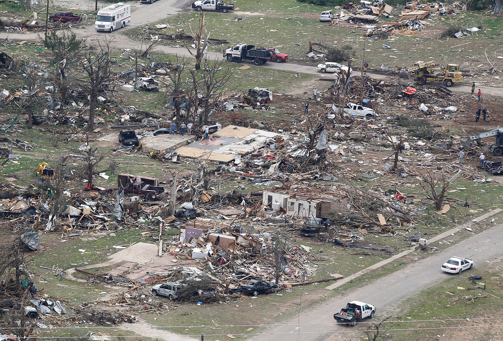 . Destroyed homes  are seen in Granbury, Texas on Thursday May 16, 2013.  (AP Photo/The Fort Worth Star-Telegram,Ron T. Ennis )