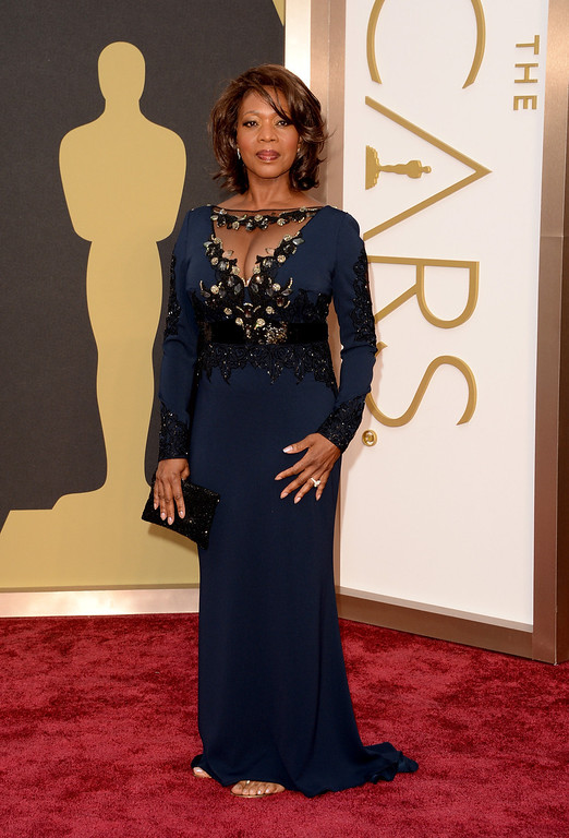 . Actress Alfre Woodard attends the Oscars held at Hollywood & Highland Center on March 2, 2014 in Hollywood, California.  (Photo by Jason Merritt/Getty Images)