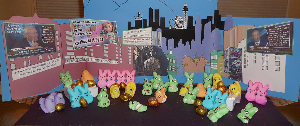 . The Walking Peep\'s attack on Denver. Mayhem in the streets. Samantha Campbel