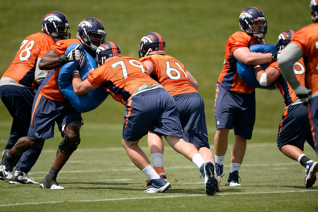 . The Denver Broncos start day two of the 2014 training camp July 25, 2014 at Dove Valley. (Photo by John Leyba/The Denver Post)